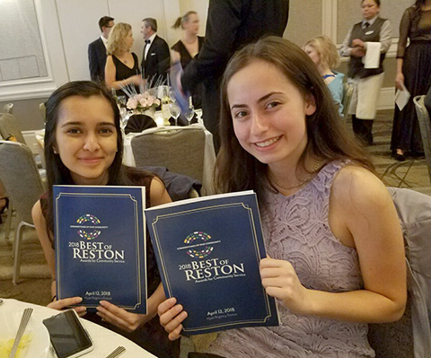 a photo of two students at the best of Reston Gala